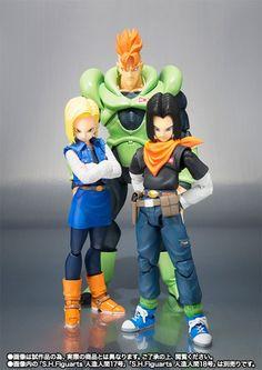 """Figuras del mundo !!!! Androides """"Dragon Ball Z"""" - SH Figuarts"""