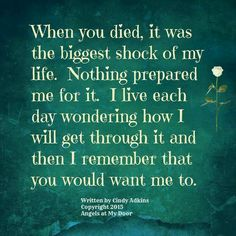Losing a loved one, death, grief