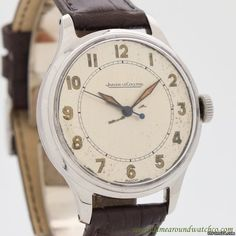 Jaeger-LeCoultre  ad: $2,200 Jaeger-LeCoultre circa 1940's Steel; Manual winding; Condition 1 (mint); Year 1940's; Location: United States, CA, Beverly Hi