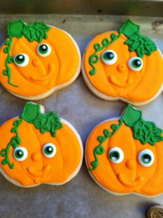 Halloween/Thanksgiving pumpkin cookies