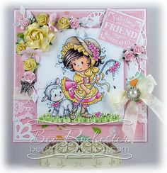 OOAK handmade Wee Stamps Mary card by Bev Rochester por BevsCrafts