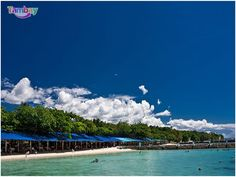 Cool clean water and white sand beaches for SUMMER Only at Paradise Island Park and Beach Resort, Samal Island, Davao City. Island Park, Island Beach, Paradise Beach Resort, President Of The Philippines, Philippine Holidays, Welcome Summer, Davao, Paradise Island, White Sand Beach