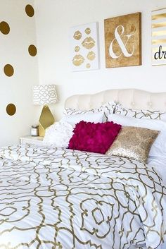Does your room fit your personality? Leo is all about red, gold and white. Go for a deeper red as an accent; it will compliment the gold hue much better than a bright red. This room has a fun gold lamp and uses wall decals to spice up any boring white dorm room wall. Put your photos in gold frames or make gold washi tape frames, and get a dark red throw blanket for the end of your bed. Leos are creative, passionate and generous, and these colors display those traits so well! You're a fire…