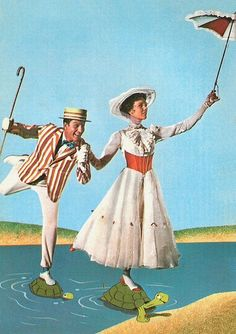 Mary Poppins/Bert Loving the complimentary flares of red and white in both costumes. Mary's bodice works perfectly in accentuating her skirt and I love the band of scarf round her hat. Bert's boater, on the other hand, is darling!