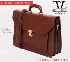 The perfect business man's must have is a Tuscany Leather briefcase. #tuscanyleather