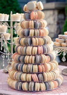 macaroon tower wedding cake - brides of adelaide