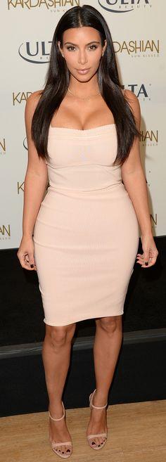 Kim Kardashian in Bec & Bridge at the Kardashian Sun Kissed Ulta Beauty event.