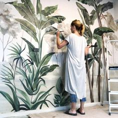 Tapeten fototapetеn fototapety tapety murals papier-peint wallpapers — - Lilly is Love Art Mural, Wall Murals, Wall Art, Wall Painting Decor, Wall Drawing, Collage Artists, Diy Wall, Entryway Decor, Street Art