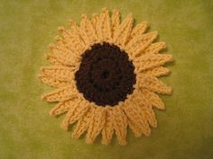 Sunflower ~ free pattern