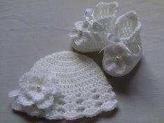 Crochet Baby Booties and Hat £14.50