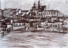 Paisaje 80-2003 Fuente Obejuna Dibujo Original por PINACOTHECULA