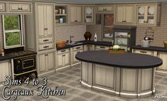 Around the Sims 3 | Custom Content Downloads| Objects | Kitchen | Sims 4 to 3 - Cargeaux Kitchen Elements