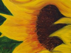 Girasol. Oil painting on canvas panel. #art #flower #color #painting