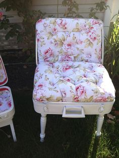 Vintage Suitcase Chair with matching  Lamp by VintageChicBtq, $255.00