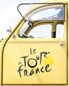 Tour de France 2CV Citroen yellow car  8 x 10  Fine by magalerie • citroen 2CV