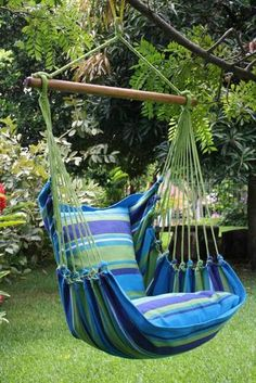 "Beautiful Extra Large Hammock Chair That is Mold and Fade Resistant Artisan Hand Crafted Fabric to Last for Years of Enjoyment Includes Two Matching Pillow Shams (Requires 2 24"" Pillows to fill Shams) Hammock has a Reinforced Mounting Loop Measurements (51"" x 51"") Total Length 54"" Wood Bar is 44"" Weight Limit is 30"