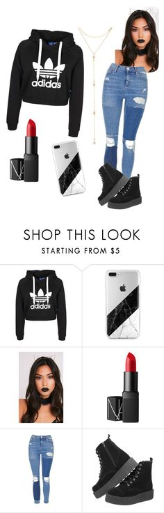 """Untitled #58"" by jstoffx on Polyvore featuring NARS Cosmetics, Topshop and Fragments"