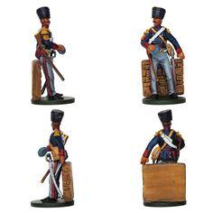 """Sargento - Caballería ligera británica 1er Regimiento """"Light Dragoons King German Legion"""" - 1815 (Colección """"History Club"""" editada por Oryon - 54 mm)"""