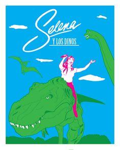 Selena y Los Dinos Art by Rio Yanez