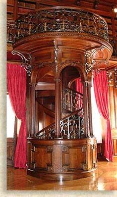 Library Staircase at Biltmore