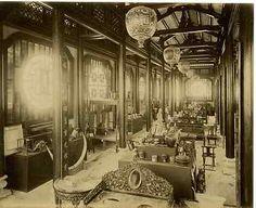 Interieur de la Cochinchine  Vintage albumen print, Exposition universelle 1889,