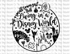 Digital Download Just a Small Town Girl Living in a Disney World SVG/PNG/JPEG by TheVinylAnswerCo on Etsy