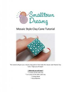 Polymer clay cane how to including how to make buttons and crochet hook handles