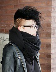 so rad. another mohawk inspiration for my future fur cut.