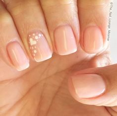 Cute nail Idea for wedding  Maybe with White and Blue hearts.
