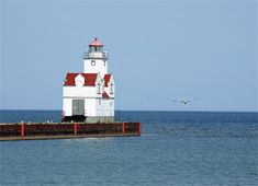 Kewaunee Pierhead, WI. Located at the end of the southern pier at the mouth of the Kewaunee River.