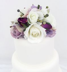 Wedding Cake Topper  White Lavender Rose and by ItTopsTheCake, $36.00