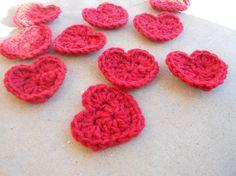 Mini Valentine Crochet Hearts