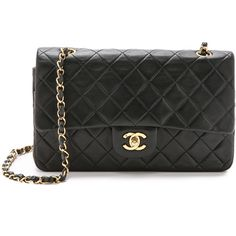 Pre-owned What Goes Around Comes Around Chanel 10'' Shoulder Bag... (€3.750) ❤ liked on Polyvore featuring bags, handbags, shoulder bags, borse, chanel, sacs, black, leather hand bags, genuine leather handbags and purse shoulder bag