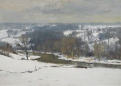 SEAGO_EDWARD Winter In The Bure Valley Oil on Canvas 26″ x 35.75″