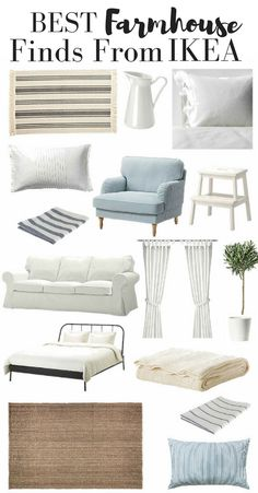 Home Interior Ideas Best Farmhouse Style Finds from IKEA.Home Interior Ideas Best Farmhouse Style Finds from IKEA Shabby Chic Farmhouse, Country Farmhouse Decor, Shabby Chic Homes, Shabby Chic Decor, Rustic Decor, Ikea Farmhouse Sink, Seaside Cottage Decor, Farmhouse Style Bedrooms, Beach Cottage Style