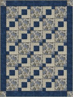 STEPPING STONES DOWNLOADABLE 3 YD QUILT PATTERN