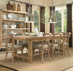 dining room rug and windows