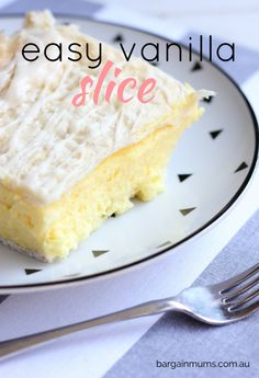 This EASY VANILLA SLICE recipe is the easiest to will every find, and possibly the best too www.bargainmums.com.au