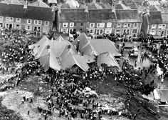 Tragedy: The scene in October 1966 where 116 children and 28 adults died when a slag heap collapsed and enghulfed Pantglas Junior School in Aberfan, Wales, which the Queen referred to in her message that year.