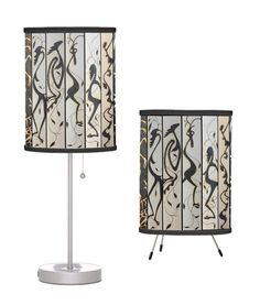 TABLE LAMP ~ Original Art, Exclusive Design ~ 2 Styles Avail ~ Wild Imagery! #ExclusiveCustomDesignCustomMade #AbstractModern