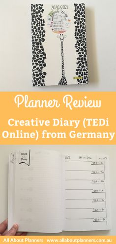 Tedi Online Creative Diary Planner Review. Check out this planner from Germany for your next bullet journal. This student planner crossed with bullet journal comes together for a simple and minimalist planner. Diary Planner, Monthly Planner, Printable Planner, Planner Stickers, Printables, Student Planner, Teacher Planner, Creative Diary, Planner Organization