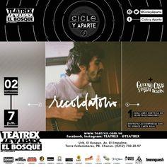 """Ciclo y Aparte presenta: """"Gustavo Casas y Los Que Buscan + Recordatorio"""" http://crestametalica.com/events/ciclo-y-aparte-presenta-gustavo-casas-y-los-que-buscan-recordatorio-2/"""