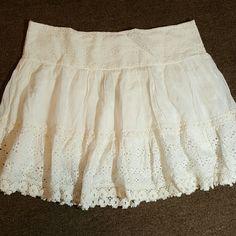 Wet Seal Pleated Rufgle Skirt White Ruffle Skirt Wet Seal Skirts Circle & Skater