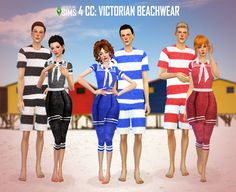 http://voodoolingsims.tumblr.com/post/126202301778/sims-4-cc-victorian-beachwear-for-all-my-fellow