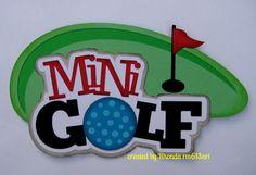 Mini Golf Sport paper piecing title premade scrapbook page Rhonda rm613art