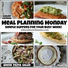 Meal Planning Monday #285