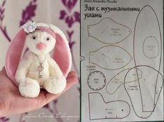 My World Craft: Bunny Cloth Plushie Patterns, Doll Patterns, Fabric Toys, Bear Doll, Sewing Dolls, Soft Dolls, Felt Toys, Stuffed Animal Patterns, Doll Crafts