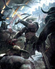 Viking: Battle for Asgard Artist: Michael Kutsche michaelkutsche.com Follow: @michael_kutsche #picoftheday #instagood #digitalart #digitalpainting #fantasy #sweet #ilovefantasyart #cool #inspiring #cgsociety #artstation #omg #best #followme #artwork #art #instadaily #painting #instamood #medieval #love #photography #storytelling