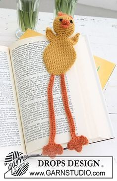 Free pattern I made one of these. I love it. Ravelry: 0-624 Chicken bookmark in Alpaca pattern by DROPS design