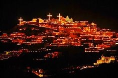 Santorini is one of Greece's most beautiful islands. This island is always beautiful. However, during Greek Orthodox Easter, on Good Friday in Pyrgos, thousands of fire lanterns are lit and the island is transformed into a breathtaking Orthodox Christian marvel.